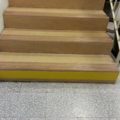 Yellow step risers