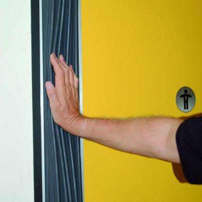 Industrial doors finger guard