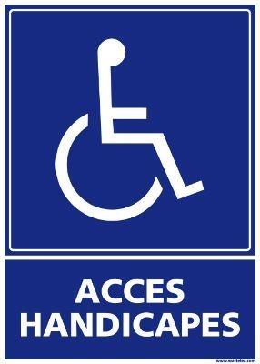 Signalétique Accès Handicapés