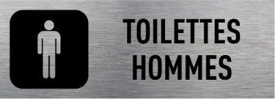 Signalétique toilettes hommes