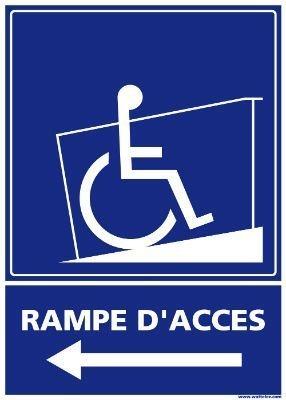Signalétique rampe d'accès - Gauche