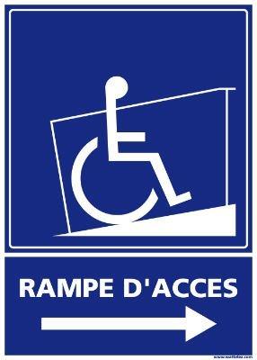 SIGNALÉTIQUE RAMPE D'ACCÈS - DROIT