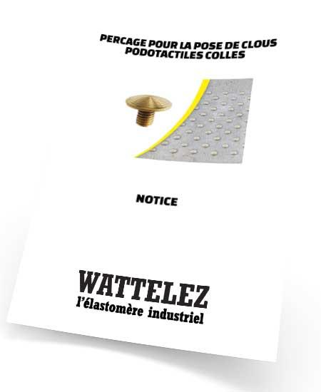 Notice de perçage pour la pose de clous podotactiles collés