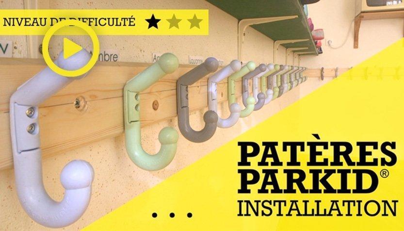 Vidéo d'installation des Patères Parkid