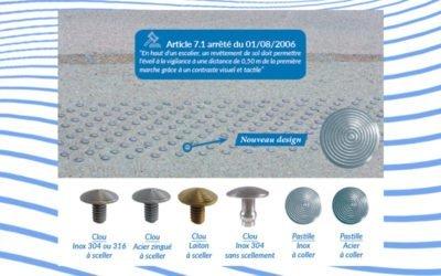 À la une – Nouveau design pour les clous et pastilles podotactiles B.E.V.